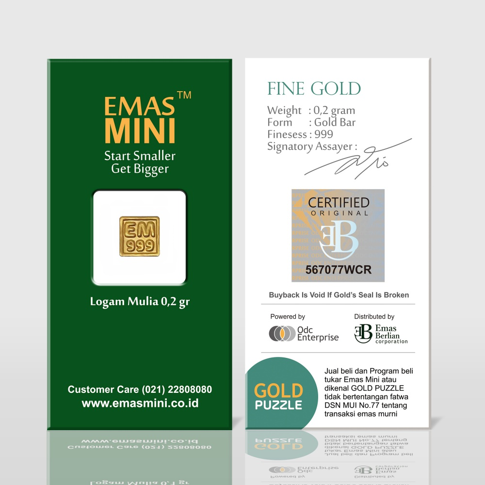 Emas Mini 0,2 gram