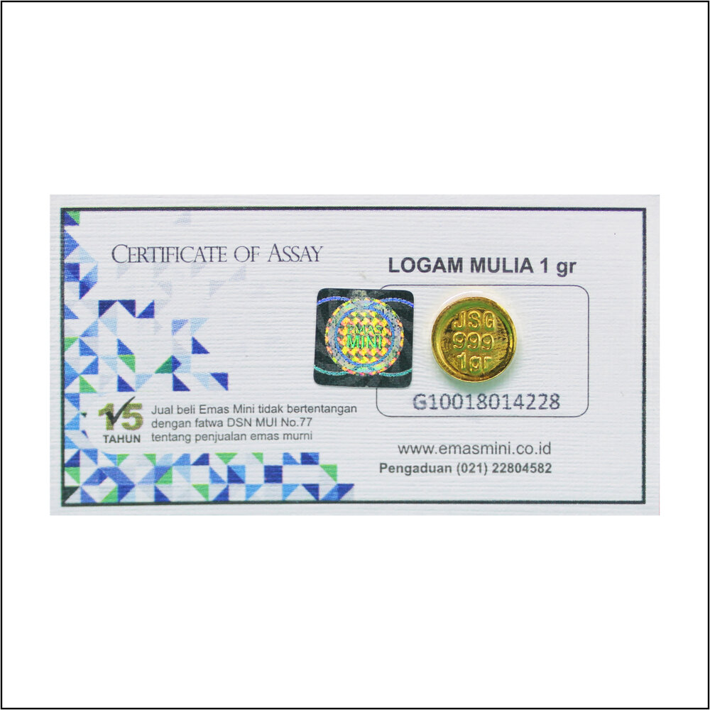 Emas Mini 1 gram ( Kemasan Klasik )