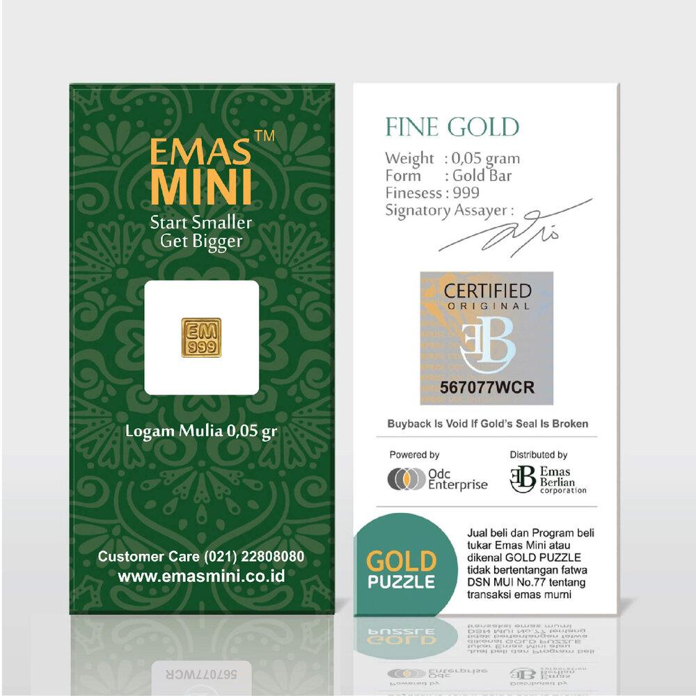 Emas Mini 0,05 gram